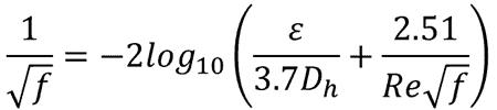 colebrook equation
