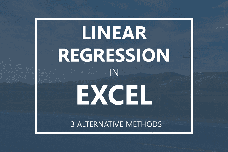 linear regression in excel