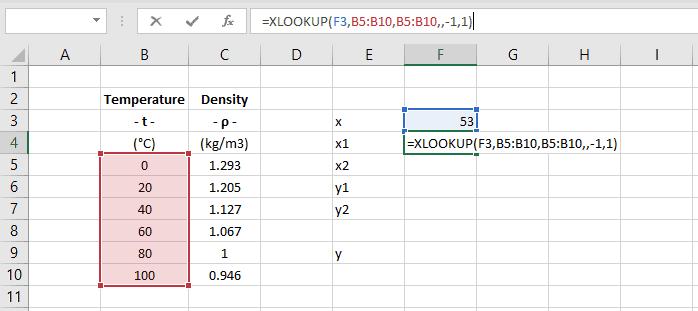 interpolation excel