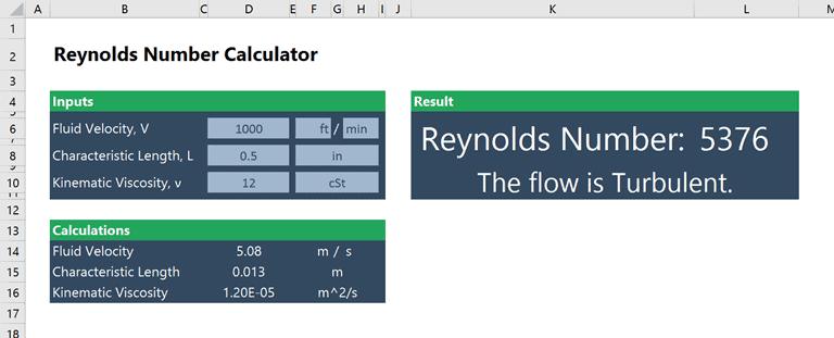 reynolds number calculator