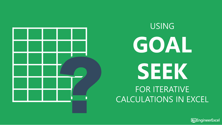 excel iteration with goal seek