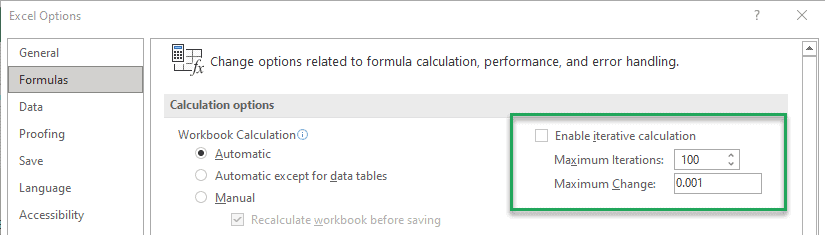 iteration in excel