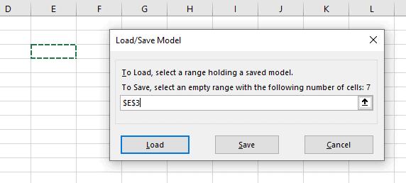 load/save excel solver