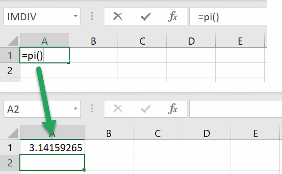 excel pi function