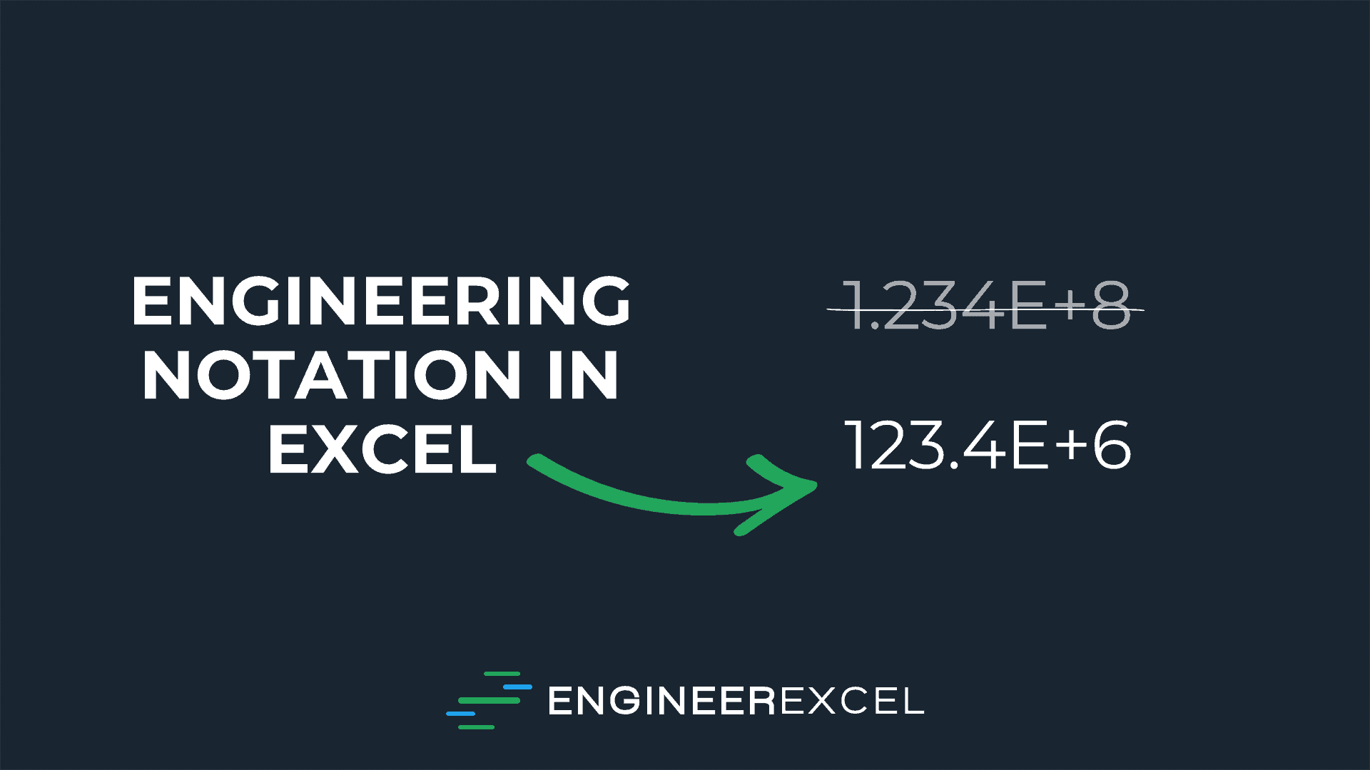 engineering notation in excel