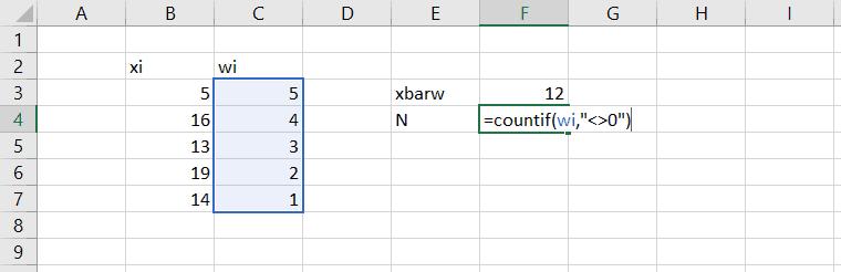count non-zero values in excel